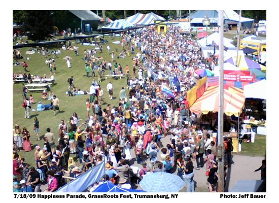 7/18/09 Happiness Parade, GrassRoots Festival, Trumansburg, NY