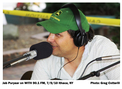 7/19/10 Jeb Puryear, WITH 90.1 FM broadcast, Ithaca, NY
